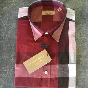 Burberry London Men Plaid Casual Button Down Shirt
